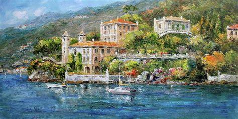 Villa Del Balbianello Lake Como Italy Painting By Luigi