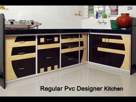 regular pvc designer kitchen furniture  ahmedabad kaka