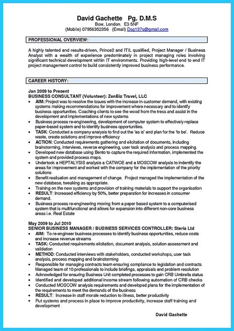 Business Analytics Resume by Create Your Astonishing Business Analyst Resume And Gain