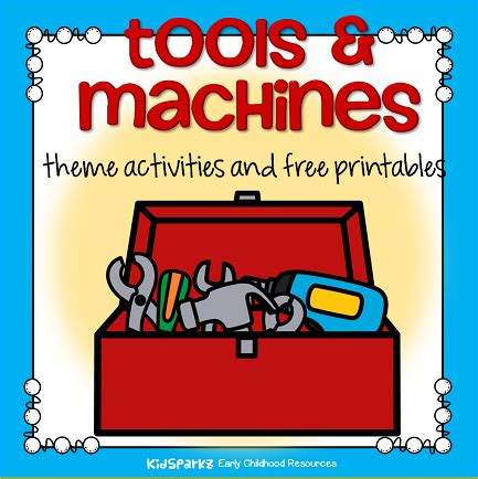 tools and machines theme activities and printables for 681 | tools page topper small orig