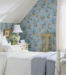 papier peint fleuri pour chambre 193832 gtgt emihemcom la With chambre bébé design avec noeud papillon fleuri bleu