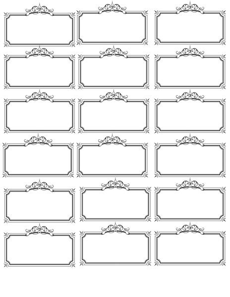 Tag Template 6 Best Images Of Name Label Template Printable Free