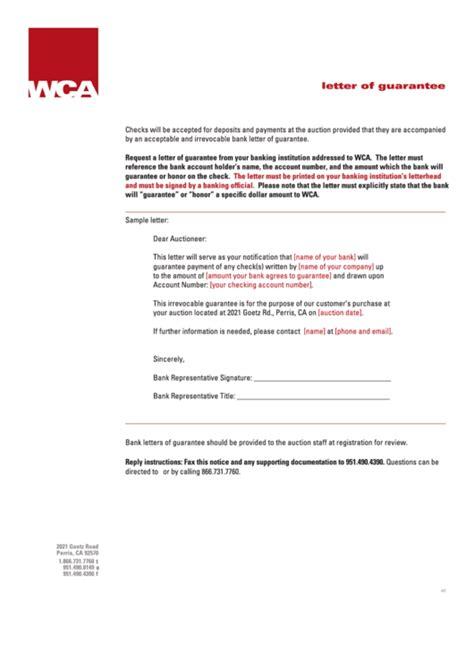 bank letter  guarantee