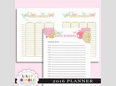 9 Best Images of Free Printable 2016 Daily Planner 85 X