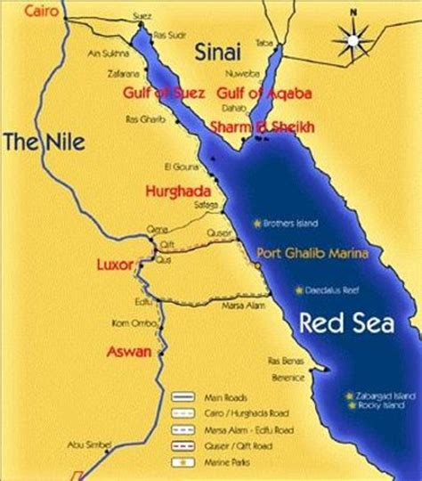 red sea map picture  red sea diving college sharm el
