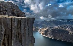 nature, Landscape, Fjord, Alone, Cliff, Mountain, Norway ...