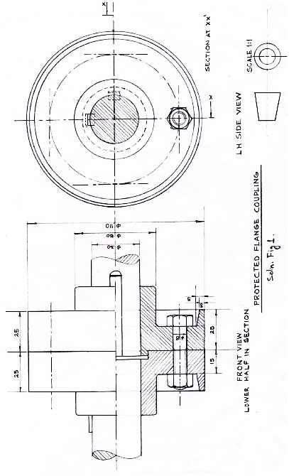 assemble   parts correctly   protected flange coupling    fig   draw