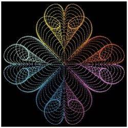 Rippled Neon Quilts Embroidery Designs Machine Embroidery