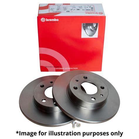 genuine brembo vented front brake discs solid rear brake discs with warranty ebay