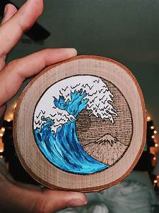 Small, Painted, Wood, Burning