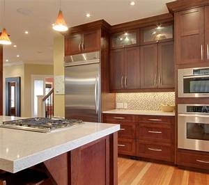 Cherry Wood Cabinets With Stainless And Light Countertop To Build Or Not To Build Pinterest