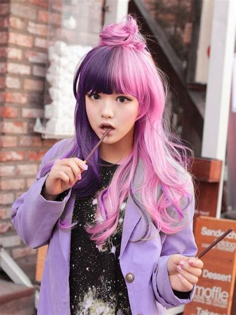 2 Tone Pink And Purple Hair Pictures Photos And Images For