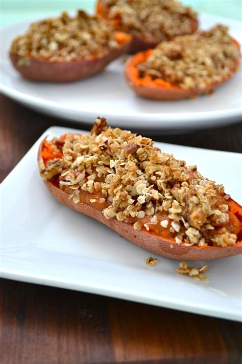 baked yam twice baked yams with oat streusel topping little bits of