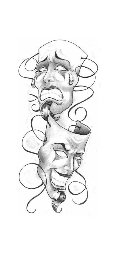 Tattoo Clown Cry Masks Later Laugh Designs