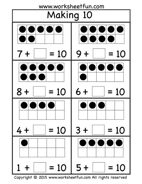 free making ten worksheet 1 oszt pinterest worksheets student teaching and kindergarten
