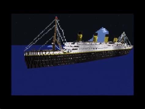 Minecraft Boat Titanic by Minecraft Titanic Sinking Animation V 2 Made With Mine