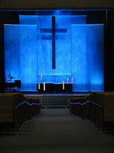 String curtain church stage design ideas for Church stage design ideas