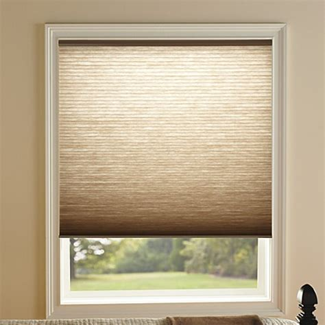 bed bath and beyond blinds kirsch honeycomb toffee light filtering window shades