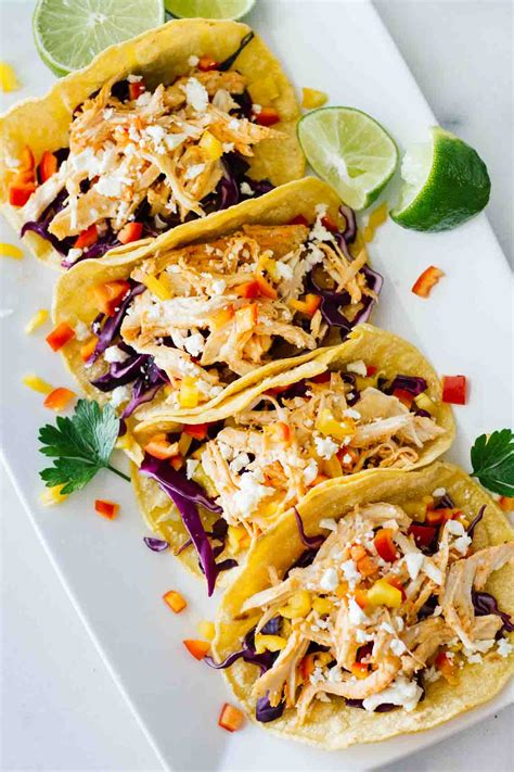 so cook cuisine healthy sriracha shredded chicken tacos jar of lemons