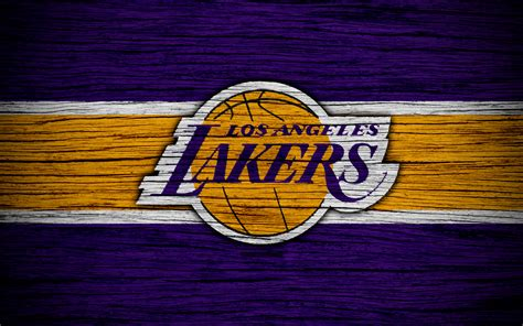 Download wallpapers 4k, Los Angeles Lakers, NBA, wooden ...