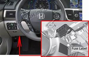 Fuse Box Diagram Honda Accord  2013
