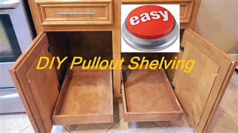 how to build pull out shelves for kitchen cabinets diy pull out sliding shelving easy 9884