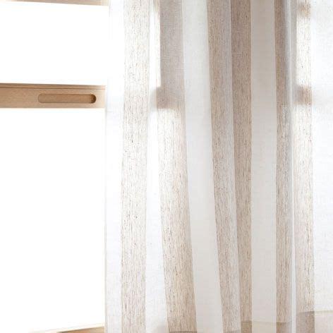 rideau en lin 224 rayures blanches et beiges canada zara