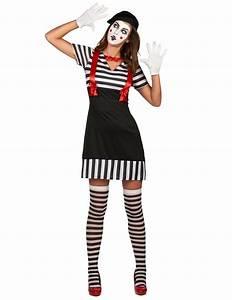 Kostüm Pantomime Damen : pantomime kost m f r damen karnevalskost m schwarz weiss rot g nstige faschings kost me bei ~ Frokenaadalensverden.com Haus und Dekorationen