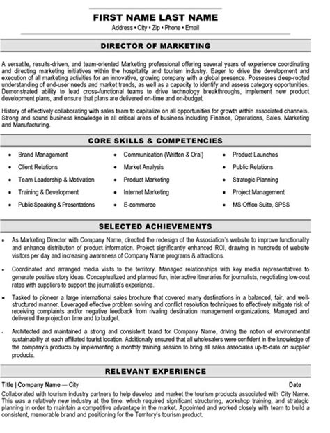 Marketing Resume Headline by Top Marketing Resume Templates Sles