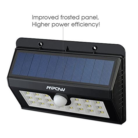 mpow solar lights bright  led solar powered led