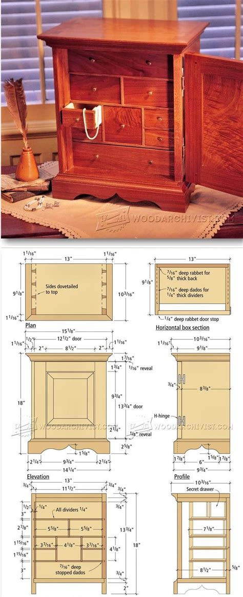 jewelry box plans ideas  pinterest wooden box plans woodworking     box