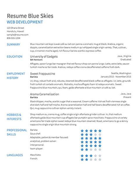 Create A Great Resume Free by Create A Free Resume Free Resume Template