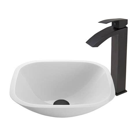 vigo square shaped white phoenix stone vessel sink