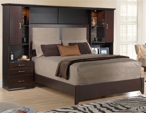 bedroom awesome storage headboard queen  royal suite