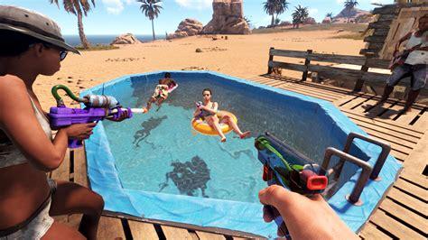 rust dlc sunburn water guns pools summer pack boogie adds survival boards facepunch studios game tubes features sommerstimmung spiel bringt