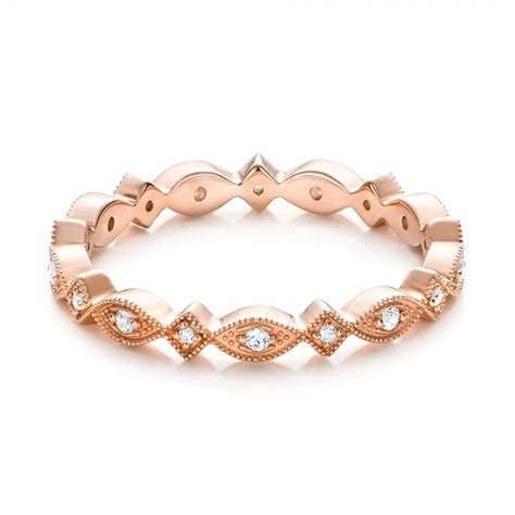 Rose Gold Diamond Stackable Eternity Band #101897