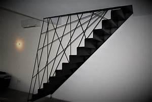 Escalier métallique design Toulouse rampe garde corps sur mesure fer forgé