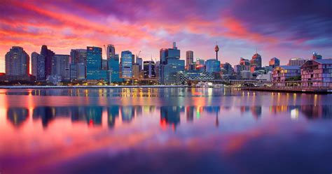 city sydney dawn  ultra hd wallpaper ololoshenka