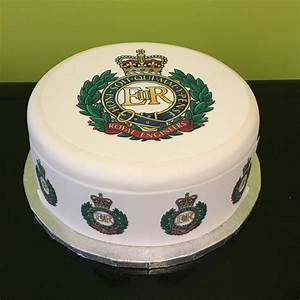 Royal Engineers Logo Edible Icing Cake Topper – the caker ...