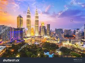 Kuala Lumpur Malaysia City Skyline Stock Photo 398119093 ...