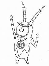 Plankton Coloring Robot Pages Netart Army Printable Getcolorings sketch template