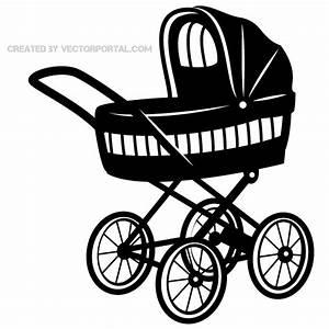 Baby Stroller Vector Art | 123Freevectors
