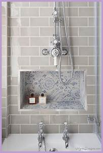 10 best bathroom tile ideas designs 1homedesignscom for Kitchen cabinet trends 2018 combined with scrapbook paper wall art