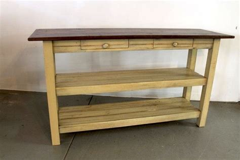 Hand Made Open Base Kitchen Island From Reclaimed Wood by