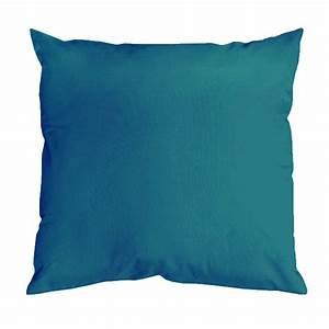 Coussin Bleu Canard : coussin uni aux multiples couleurs bleu canard fuchsia corail mastic grenadine ~ Teatrodelosmanantiales.com Idées de Décoration