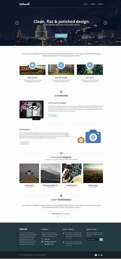 Web Template Professional Psd Corporate Website Templates