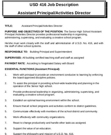 Activities Coordinator Description by Activity Director Description Sle 8 Exles In Word Pdf