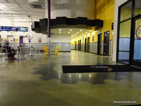 Polished Concrete for Planet Fitness