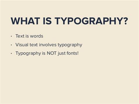 An Introduction To Sensible Typography