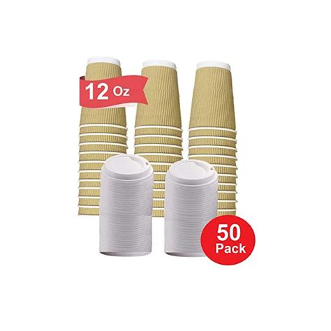They are great for coffee shops and stores, but can also be used at home for events such as weddings or parties. 12 oz Coffee Cups With Lids Disposable Insulated Ripple ...